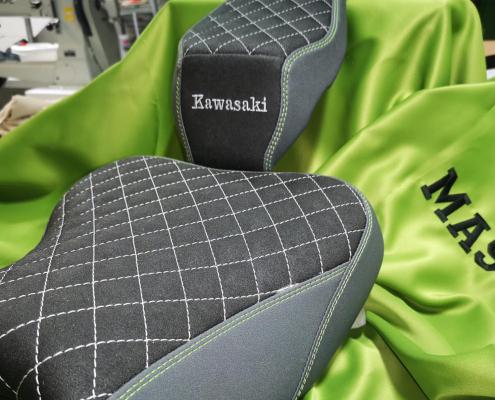 Kawasaki Sitzbank erneuern Autosattlerei MASTO